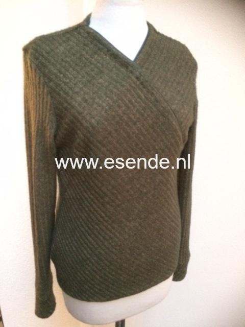 Stoere groene pullover