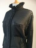 Bloes van  mesh black leather on tule