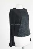 Zwart designer shirt van ritual plainstof