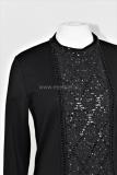 Designer shirt met bijzondere paillettenstof