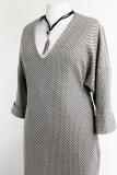 Tuniek jurk van katoen gebreide stof