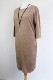Heerlijk draagbare suedine tuniek jurk