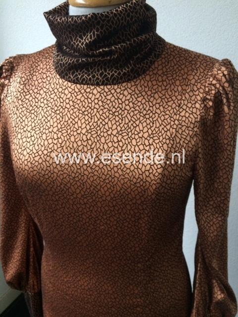 Shirt bloes van stretch zijde