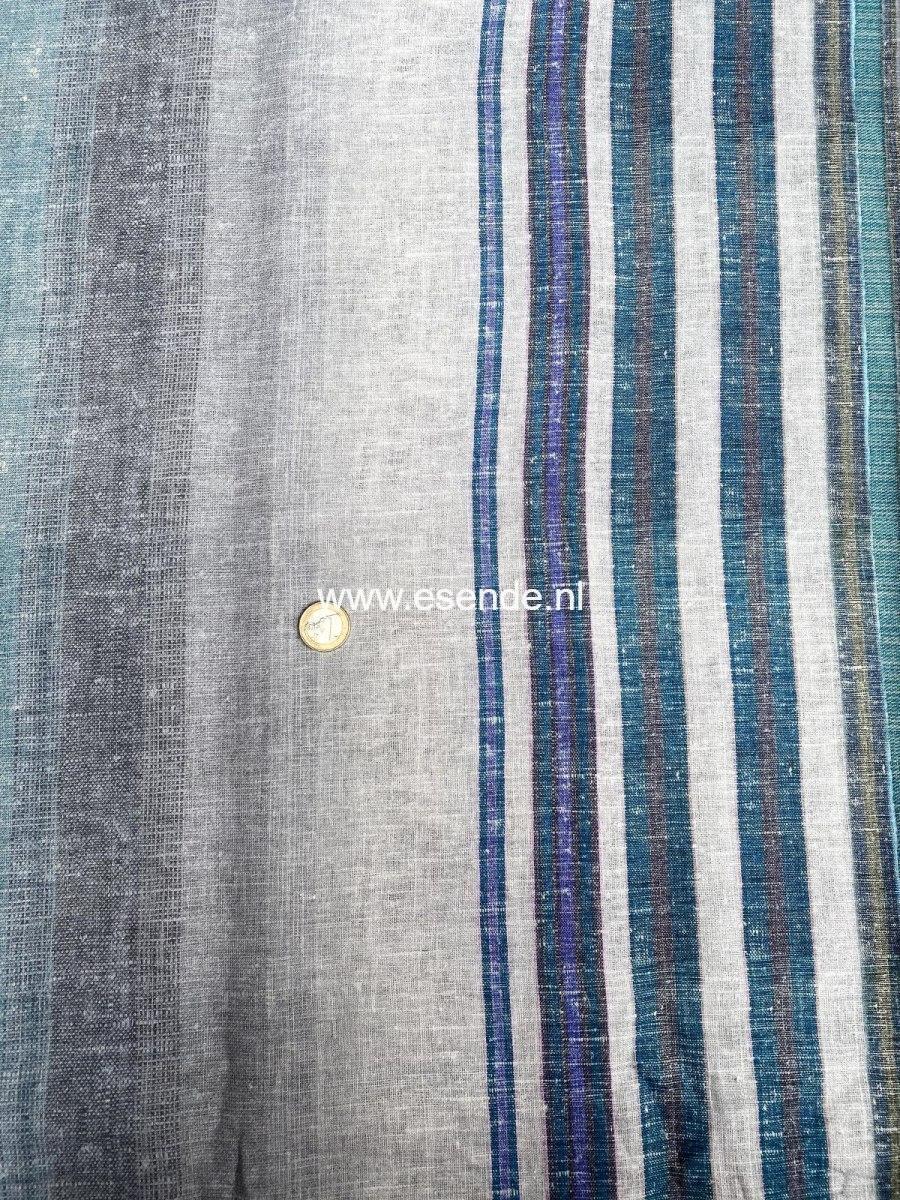 100% linnen blauw grijs