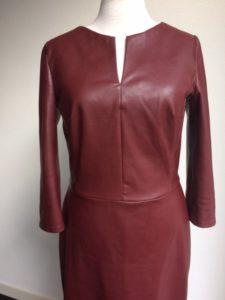 Kunstleer jurk rood
